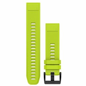 Garmin fenix 5 QuickFit 22 Watch Bands Amp Yellow Silicone 010-12496-02 Original