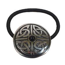 Haargummi keltisches Muster mit schwarzem Stein