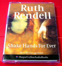 Ruth Rendell Shake Hands For Ever Inspector Wexford 2-Tape Audio Bk George Baker