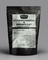 50g Activated Charcoal Bentonite Clay Lemon Myrtle toothpaste face mask cleanser