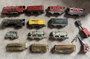 Marx Tin Litho Toy Trains New York Central System 1950's Vintage Lot