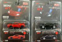 TSM 1:64 MINI GT Chevrolet Corvette Stingray C8 MGT00150 & MGT00153 (2) Cars Set