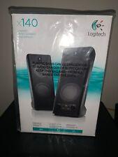 Logitech Stereo Speakers X 140 Haut - parleurs, new in original box and plastic.
