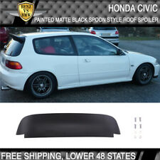92-95 Honda Civic Duckbill SPOON Style 3Dr Roof EG EH Spoiler Matte Black ABS