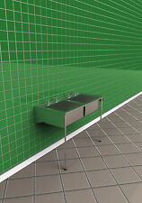DOUBLE COMMERCIAL HOSPITAL SINK IN STAINLESS STEEL