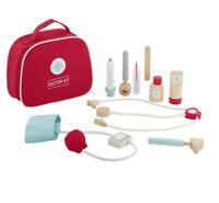 Wooden Doctor Nurse Bag Pretend Play Set Kit Educational Toy (Medical) Carry Bag