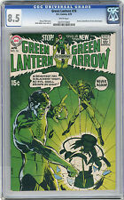 1970 Green Lantern 76 CGC 8.5 White Pages Green Arrow Stories Begin