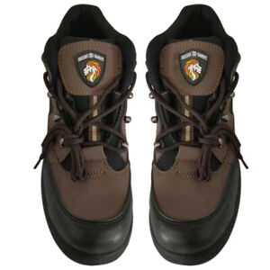 Men Safety Shoe Steel Toe Cap Ankle Protector Work Boots Leather Hiking Walking