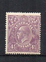 Australia 1924-25 4 1/2d Sidehead  MVLH