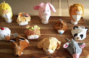 ANIMAL HAT  Duck Cow Rabbit Bear Lion Children Adults Party Costume Hat One SIze