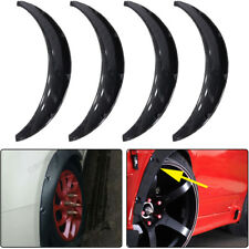 4Pcs Universal Carbon fiber Car Body Fender Flares Flexible Polyurethane L