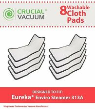 8 Washable Eureka Enviro 310A & 311A Floor Steamer Mop Pads # 60978 60980 60980A