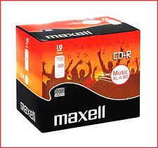 MAXELL CD-R XLII 700MB 52x Speed 80min Recordable Digital Audio CD Discs Pack 10