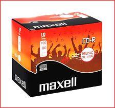 MAXELL CD-R XLII 700MB 80min Recordable Digital Audio CD Discs Pack 10 (624880)