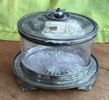 Antique Mappin & Webb Regency Biscuit Barrel & Stand