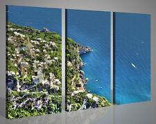 Quadri moderni stampe su tela PRAIANO costiera amalfitana positano 130 x 90