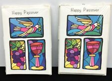 16 Vintage HAPPY PASSOVER Greeting 2 Pkgs 8 Cards & Envelopes ea Millen Cards NY