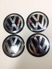 Volkswagen 4Pcs 65mm Blk Car Emblem Badge Wheel Center Hub Cap Decal Stickers