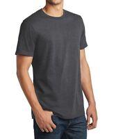 72 pcs District Made Gray Blank Plain Crew Neck Short Sleeve Wholesale T-Shirts