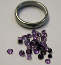 LOT OF NATURAL LOOSE AMETHYST GEMSTONES 3-4MM ROUND 3.5CT TOTAL GEMS AM62