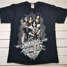 KISS Alive 35 Concert Graphic T-Shirt Sz Medium Black Cotton Tour Band T5-13