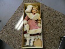 VINTAGE COLLECTIBLE Ashley Belle Porcelain Doll Agnes w/Stand & Box...COA