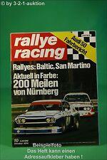 Rallye Racing 10/74 Opel Manta TE 2800 Audi 50 + Poster