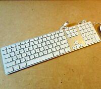 Apple Wired Keyboard for Mac Mini iMac Macbook Pro w/ Numeric Keypad White A1243
