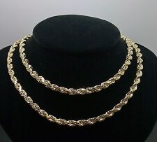 "10K Yellow Gold Men's Rope Chain 24""  5mm Franco, Italian,Cuban include 2 chain"
