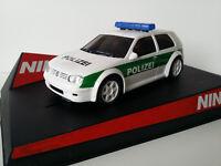 """Scx Scalextric Slot Ninco 50321 VW Golf """"Polizei """" nº 580"""