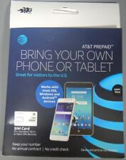 AT&T Prepaid BYOD SIM Card Starter Kit Triple Cut