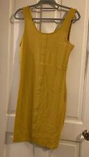 BNWT New Look Mustard Body Con Dress Size 16