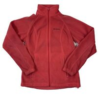 Women's Columbia Fleece Zip Up Jacket Small Pink  Soft Outdoor