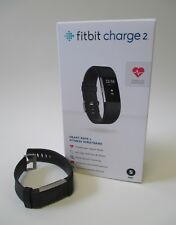 FITBIT Charge 2 Size Small Black Pre-Owned in box w/ Extra Strap Activity/Sleep
