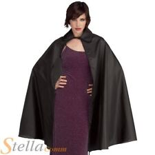 "Black 45"" Taffeta Cape Fancy Dress Dracula Halloween Vampire Costume Accessory"