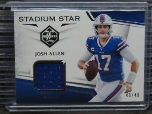 2019 Limited Josh Allen Stadium Star Silver Spotlight Jersey Patch #40/49 D529