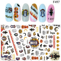 Halloween Designs Nail Art Decorations Water Transfer Stickers Nail Art Decals
