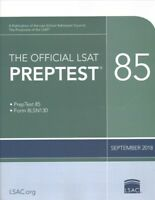 Official LSAT Preptest 85, September 2018, Paperback by Law School Admission ...
