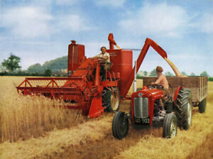 Vintage Massey Ferguson Tractor/Combine 780s Poster Brochure A3