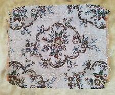 A38 Vintage Brocade Tapestry 60's Fabric Salvage Remnant Material Doll Rug