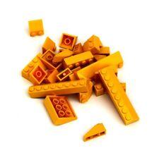 20 Stück 1x1 2//3 Dachstein orange transperant 4244369 LEGO®  Nr
