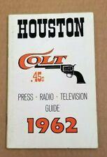 HOUSTON COLT 45s - MLB BASEBALL MEDIA GUIDE - 1962 - FIRST YEAR - RARE