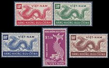VIETNAM EMPIRE PA N°4/8* Dragons,1952 South Vietnam Sc#C5-C9 Airmail Set MH