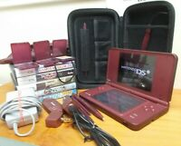 Nintendo DSi XL Bundle Lot. Games, chargers, stylus, and accessories. WORKS USED