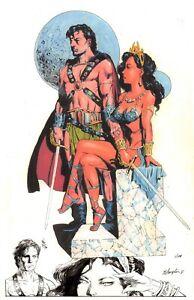 John Carter/Dejah # 45  print with original Inked Sketch [Remarque] Bo hampton