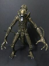 "Custom 7"" Gold Neca Bootleg Alien Xenomorph Warrior AvP Aliens Action Figure"