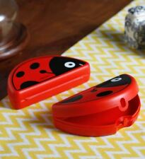 Tupperware Folded Keeper Lunch Box Lady Bug Red color Plastic container- 1 Pc.