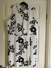 Ladies Special Occasion Dress Size 16 By Very White And Black