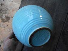 "Vintage McCoy Robin Egg Blue 8"" Mixing Nesting Bowl Bee Hive Pattern Pottery"