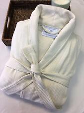 Boca Terry Knit Diamond Robe, Shawl Collar, Ecru, One Size Fits Most